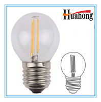 Long Working time 3.6W G45 Filament LED Bulb with CE RoHS
