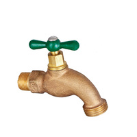 Bronze water bibcock flow control valve one word handle brass lockable ball valve