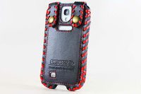 For samsung galaxy S4 i9500 genuine leather cell phone case