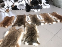 Factory Wholesale Natural tanned Rabbit Skin/all color