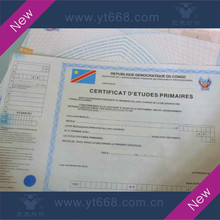 Customed logo university certificate