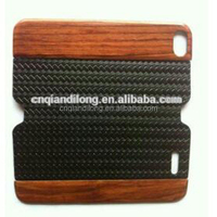 Wood+Real leather+ Plastic screen phone case for iphone 5s phone cover for iphone 4/4s for iphone5 phone cover