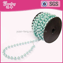 weddings decoration colored roll chain abs fake pearl strand beads