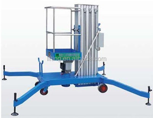6m light weight hydraulic industrial man lift baskets for malls