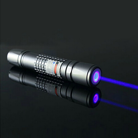 445nm waterproof 1000mw 1W blue laser pointer with 5 star cap and fousable head burn