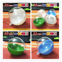 Openable transparent plastic hollow ball for plastic balls 40mm