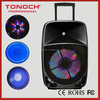 12 inch two way battery active speaker with colorful lights speaker(PF15WL)