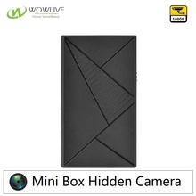 Mini Home Office Wireless 1080P Mini Hidden Black Box Camera 75Degree rotating Lens and 650Mah Built-in Battery USB BOX Camera
