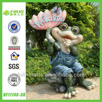 Light Welcome Garden Resin Frog Figurine