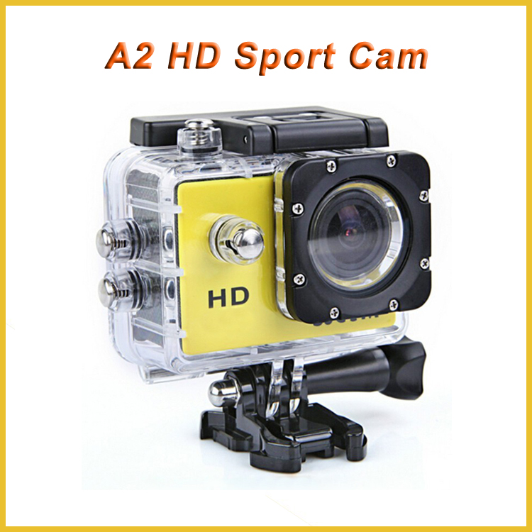 Low price helmet camera manufacturer hd 720p mini extreme sports action video digital camera A2, waterproof action video camera