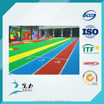 Sports Court Rubber Running Track Surface