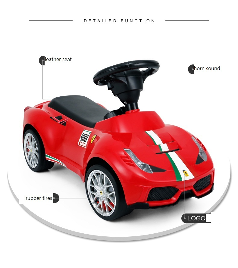 Rastar best toy for kids Ferrari licensed children baby push toy car