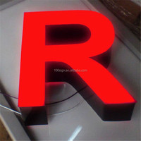 Easy installation epoxy resin 3d luminous letter signage