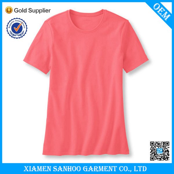 Wholesale Cotton Spandex Women Bulk Tee Shirt Factory Price OEM Service