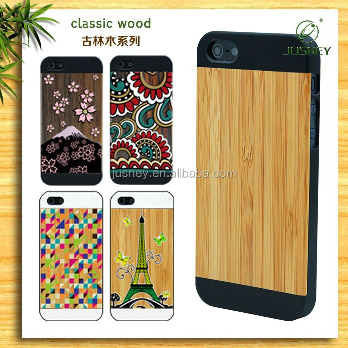 hot sell custom original wood case for apple iphone 5 6