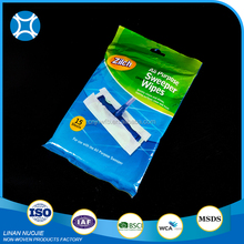 100% Polyester Disposable Cross-Lapping Design Nonwoven hotel Wet Wood Floor Cleaning Wipe