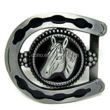 Chinese manufacturer manufacture low price Horseshoe head custom zinc alloy belt buckle