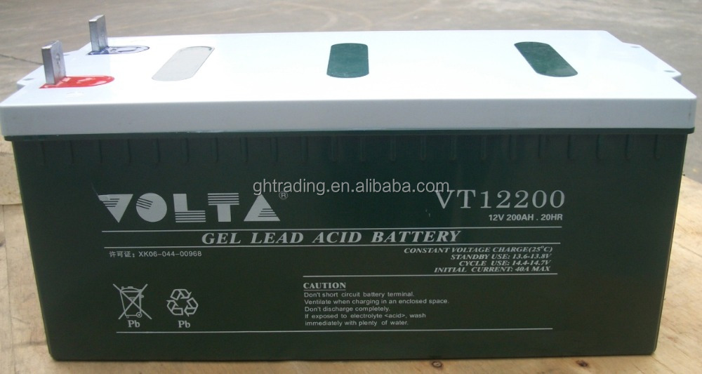 China High quality 12V 200AH 120AH 150AH Solar/ Wind Power Storage Battery AGM Battery