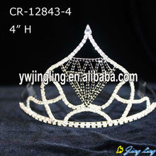 "4"" Black Diamond Shape Pageant Crown For Sale"