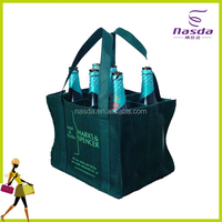 ecofriendly non woven wine bag with printing for 6 bottles