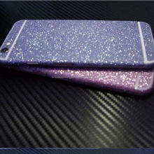 Colors selection decorative metallic pvc glitter film roll for phone shell