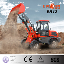 New EVERUN ER12 Mini Wheel Loader with Standard Bucket for Sale