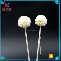 factory supply 3cm cedar hand white sola wood flower with stick diffuser assurance scented artificial