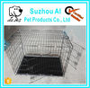 2 Door Wholesale Folding dog Wire Cages Metal Pet Crate Kennel House With ABS Pan