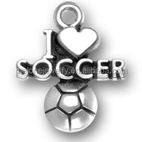 Popular Alloy Sport Charms I Love Soccer Charms Wholesale