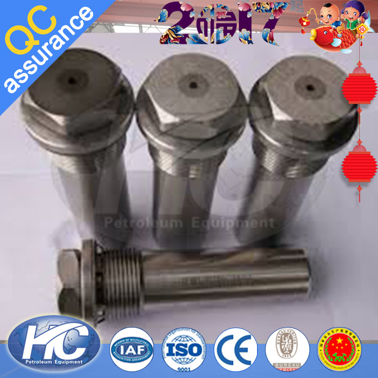 Oil industrial tungsten carbide choke beans / choke bean for oil well on sale