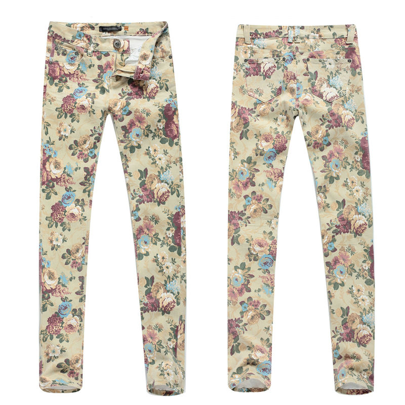 2018 new fashion flower trousers DS130055