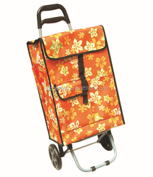 foldable shopping trolley with 600D Polyester with PVC coatd bag