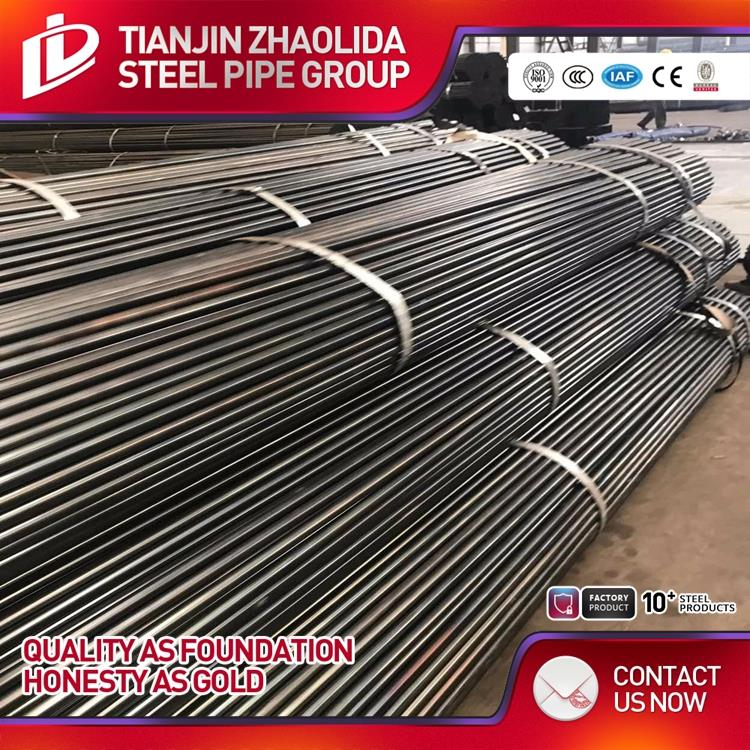 Best Supplier black annealed q235b frequency welding steel pipe with high zinc