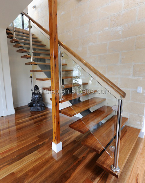 indoor stairs/metal wood stair
