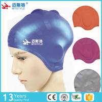 Advanced adult design large soft ear protection silicone swim cap