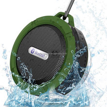 OEM IPX7 Bluetooth Shower Speaker C6 waterproof outdoor bluetooth speaker with Suction Cup and hook