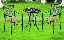 metal mosaic bistro table and chair furniture set