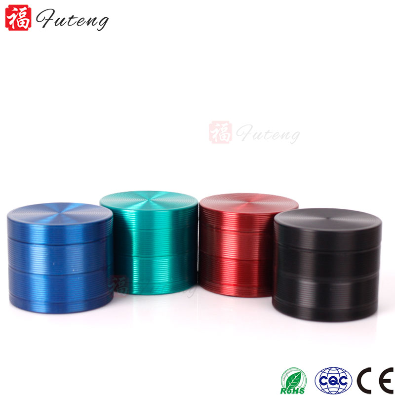 FT5893 Yiwu Futeng Best Tobacco Grinder Brands 40/50/55/63/mm Herb Grinder Wholesale Grinder