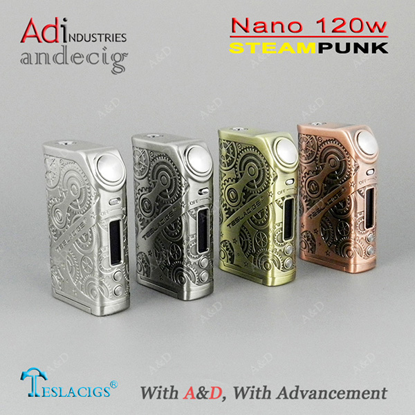Tesla Nano 120w Teslacigs Nano 120 Box Mod TC Mode with 510 Thread