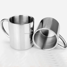 Double Wall Stainless Steel Mug, Reusable insulated Metal Coffee Beer Cup with Handle