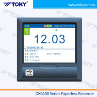 High Quality DX6100 LCD 16 Channel Paperless Recorder / Chart Recorder / Temperature Recorder