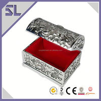 Gold Plated Metal Treasure Chest Jewelry Box Big Lots Jewelry Box Made In China