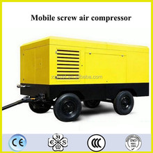 High Reliable Mobile Diesel Drive /Electric Driven Type Screw Rechargeable Portable Air Compressor 220v