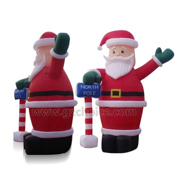 Holiday Living Advertising Cartoon Santa Christmas Inflatable Model