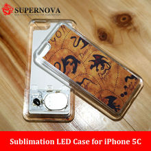 Flashing LED light Phone Case for iPhone 5c | Sublimation Phone Case for iPhone 5C