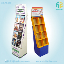 Exhibition display stand cardboard book shelf