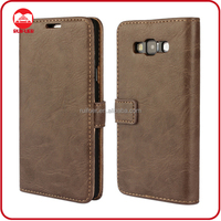 Manufacturer Mobile Phone Book Style Retro Vintage Flip Wallet Back Cover Case for Samsung Galaxy A7 Wholesale