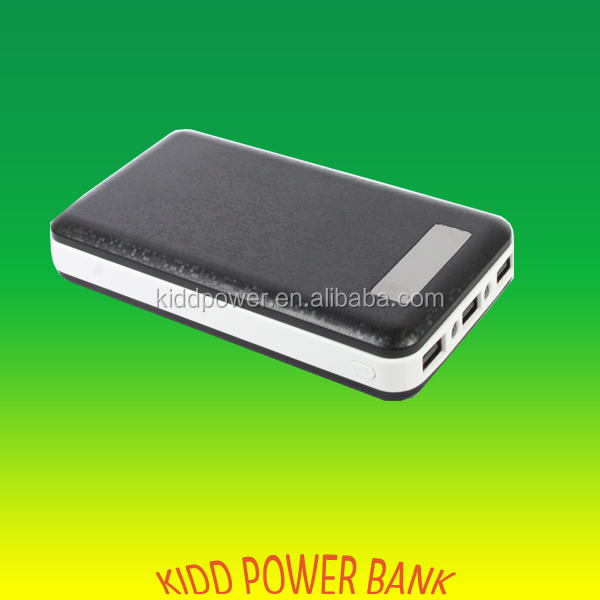 Hot New Products High Capacity Power Bank 20000mah with LED display 3 USB output for Iphone Andrio devices
