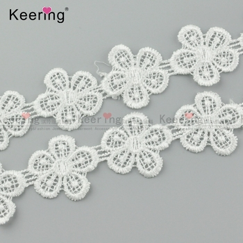 Beautiful Flower Polyester Lace Trim For Dress WLCP-054