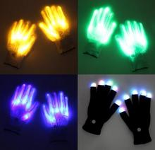 Neon LED Magic Gloves /Multi-color Flashing LED Gloves for dancing or party LG001